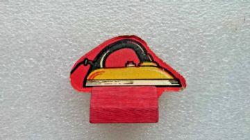 Monopoly Iron  Wooden and Card Playing Piece 1940s Edition
